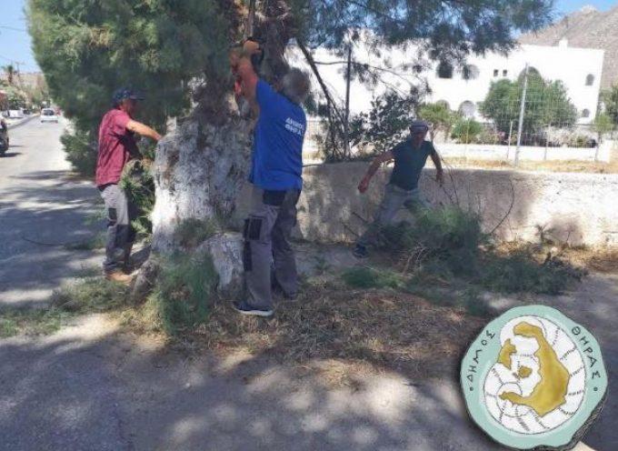 Δήμος Θήρας: Συνεχίζει το έργο της η Υπηρεσία καθαριότητας