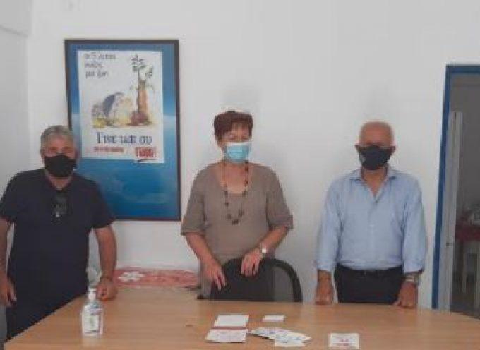 Την Τράπεζα Αίματος Σαντορίνης στα γραφεία τους στο Καμάρι επισκέφτηκε ο Αντιπεριφερειάρχης Δημόσιας Υγείας Χ. Δαρζέντας