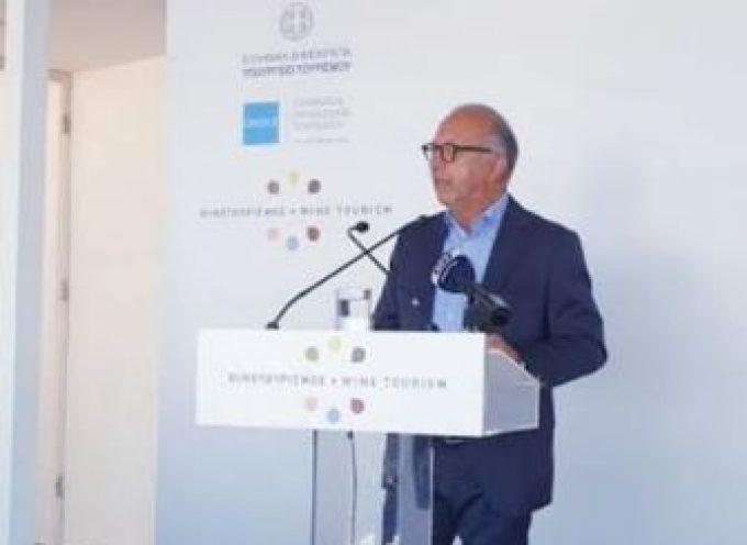 Στη Σαντορίνη για το διήμερο συνέδριο οινοτουρισμού  ο Αντιπεριφερειάρχης Κυκλάδων κ. Γιώργος Λεονταρίτης