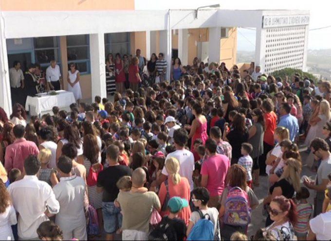 Ο Αγιασμός στο Δημοτικό Σχολείο Φηρών